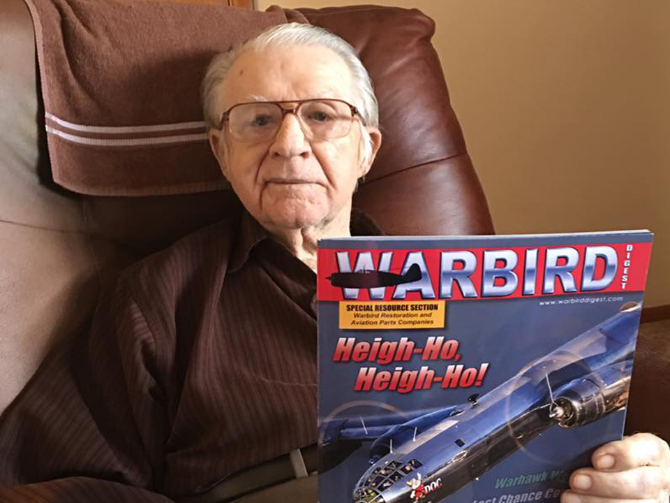Articles - Ferrill Purdy holding Warbirds magazine