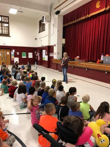 Canton school talk to students