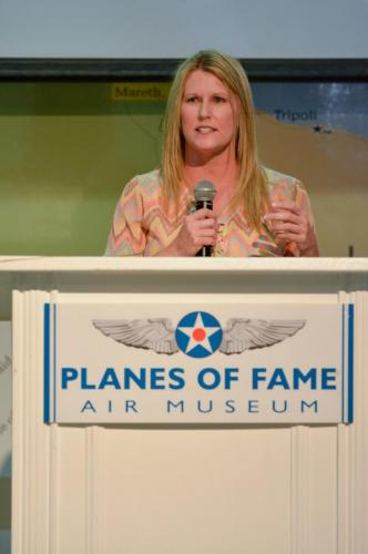 Planes of Fame - August 6, 2016 - michele behind podium