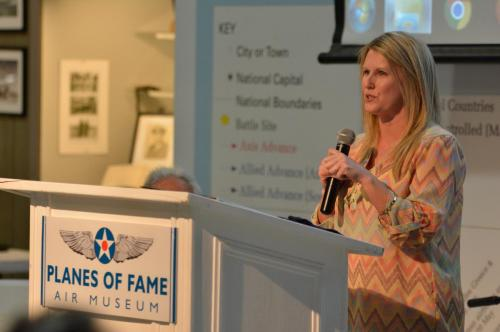 Planes of Fame - August 6, 2016 - michele presenting to group