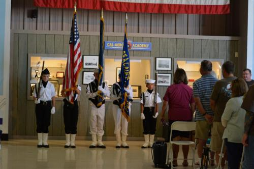 Planes of Fame - August 6, 2016 - front view of color guard