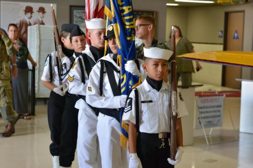 Planes of Fame - August 6, 2016 - junior color guard